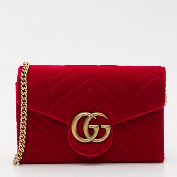 古馳/gucci 18年秋冬 logo 鏈條包 女包 女性 gucci 雙g gg marmont圖片