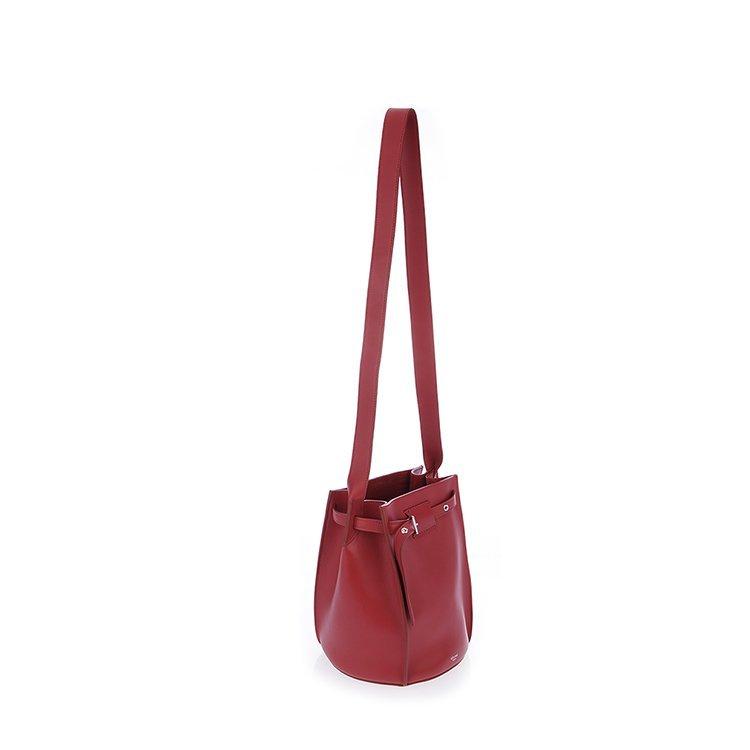 賽琳/celine 18年秋冬 logo 水桶包 女包 女性 紅色 單肩包 183343a4t圖片